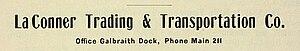 La Conner Trading and Transportation Company - Image: La Conner Trading Company advertisement 1901 (cropped)