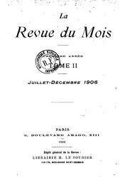 La Revue du Mois
