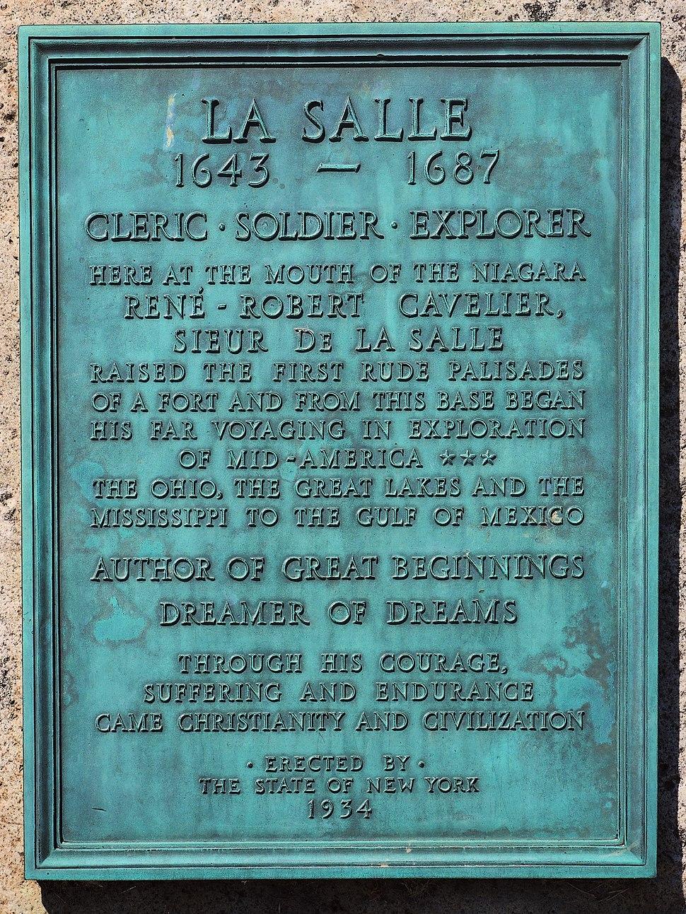 La Salle Plaque NY 1934
