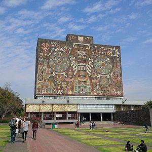 Central Library (UNAM) - Central Library exterior
