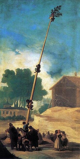 """Cockaigne - Francisco Goya: La cucaña (""""The Greasy Pole"""", c. 1786)"""