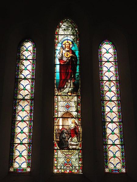 Labenne (Landes) église Saint Nicolas, vitrail 01
