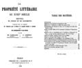 Laboulaye - La propriété littéraire titre & table des matières, 1859.png