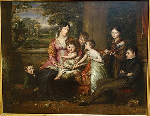 Lady Torrens and her Family by John Linnell, 1820, oil on canvas - Chazen Museum of Art - DSC02165