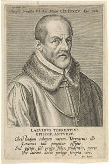 Laevinus Torrentius engraved by Cornelis Galle (I) after Gijsbert van Veen.jpg