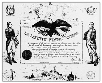 Lafayette Flying Corps - La Fayette Flying Corps service certificate