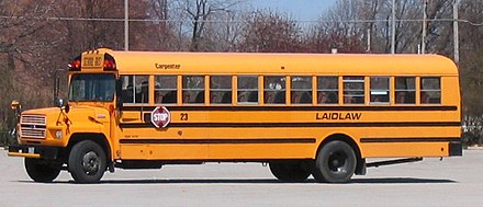 School bus painted in chrome yellow Laidlaw school bus.jpg