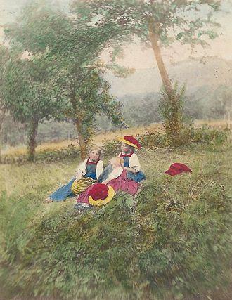 Bollenhut - Ludovico Wolfgang Hart, Three Girls of Gutach, 1864