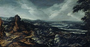 Panoramic Landscape with Tobias and the Angel