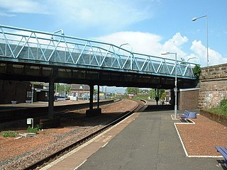 Larbert railway station railway station in Falkirk, Scotland, UK