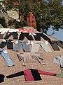 Laundry Scene along Ghat - Varanasi - Uttar Pradesh - India - 03 (12498836915).jpg