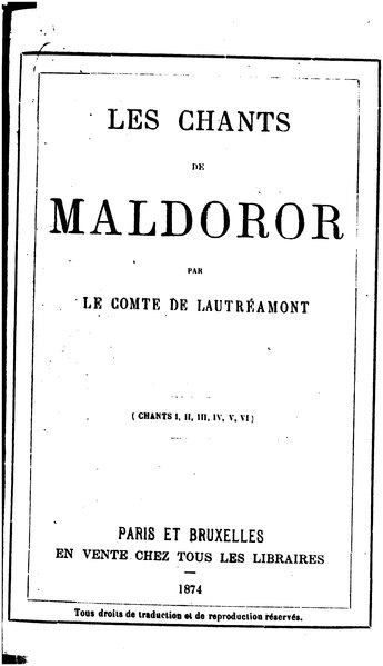 File:Lautreamont - Chants de Maldoror.djvu