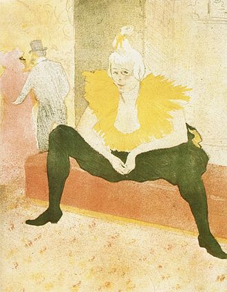 Cha-U-Kao - The Seated Clowness by Henri de Toulouse-Lautrec