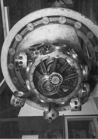 Le Rhône 9J - Le Rhône 9J crankshaft, pistons, and connecting rods