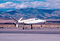 Learfan landing at Reno-Stead (4815953232).jpg