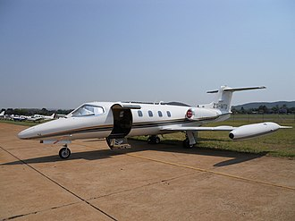 Learjet 25 - A parked Learjet 25B