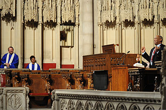 Lee Archer (pilot) - Television personality Bill Cosby (right) eulogized Archer at a Riverside Church memorial service on February 4, 2010.