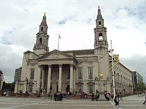 City of Leeds - Leeds Civic hall, Millennium Square, meeting place of Leeds City Council