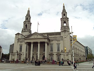 City of Leeds - Leeds Civic hall, Millennium Square, meeting place of Leeds City Council