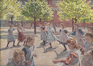 Playing Children, Enghave Square