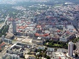 Leipzig City von Osten