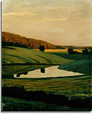 Leistikow, Walter - Evening Landscape in the Mark Brandenburg (1897).jpg
