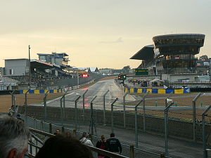 24 Hours of Le Mans - The permanent pits and pit straight for both the Circuit de la Sarthe and Bugatti Circuit