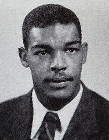 A portrait of Ford from the 1948 Michigan yearbook