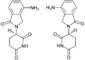 Lenalidolide Enantiomerers Structural Formulae.png