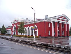 Lgov-Kiyevsky railway station in Lgov
