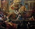 Liège, Collégiale St-Denis, E Fisen, Martyre de Ste Catherine d'Alexandrie.JPG