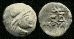 Liaka Kusulaka - Coin of Liaka Kusulaka, an imitation of coins of Eucratides.