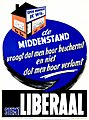 Liberale verkiezingsaffiche, 1958 - Campaign poster, Belgian Liberal Party, National elections 1958 (30199375283).jpg