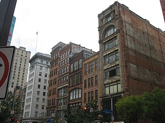 Liberty Avenue (Pittsburgh) - Buildings along Liberty Avenue