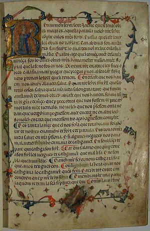 Llibre dels fets - 1343 Catalan manuscript Prologue