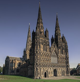 Lichfield Cathedral Church in Staffordshire, England