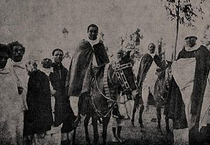 Iyasu V - Iyasu and his retinue, ca. 1914.