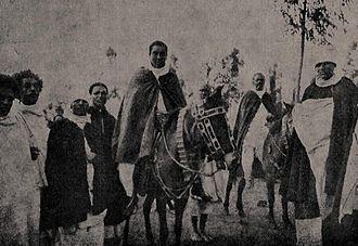 Iyasu V - Iyasu and his retinue, ca. 1914.