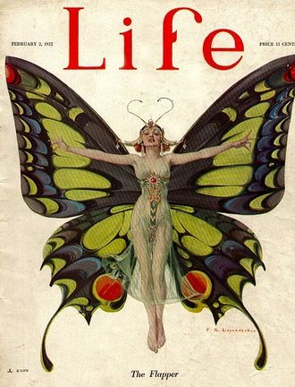 "Life (magazine) - 1922 cover, ""The Flapper"" by F. X. Leyendecker"