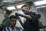 Life on the ship, Barber Shop 160308-M-CX588-041.jpg