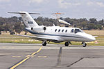 Light Jets Australia (VH-DAA) Cessna 525 Citation CJ1 taxiing at Wagga Wagga Airport.jpg