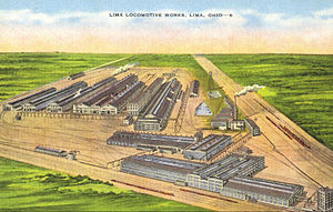 Lima Locomotive Works - The Lima factory