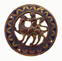 Limoges Medallion with Samson fighting the lion.jpg