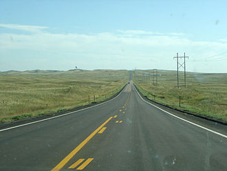 Lincoln County, Nebraska - Rural highway in Lincoln County
