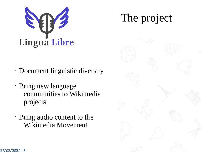 File:Lingua Libre presentation-2021-Wikimedia Meet India.pdf
