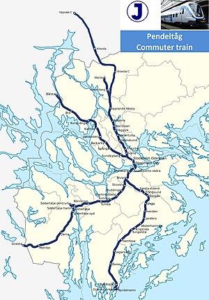 George Ashlin - Image: Linjekarta för Stockholms pendeltåg