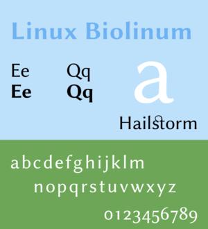 Linux Libertine - Image: Linux Biolinum sample