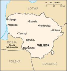 Mapa Litwy