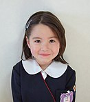 Half-Japanese, Half-European girl in kindergarten uniform