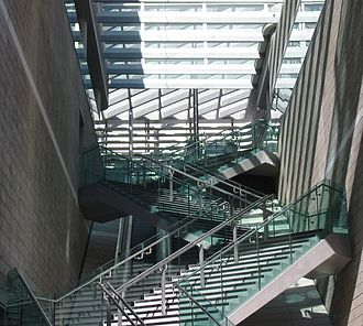 Liverpool One - Staircase leading to Jungle Rumble Adventure Golf and the Odeon cinema